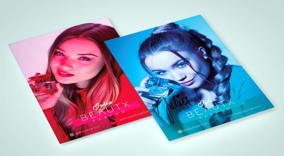 Autogrammkarten für Julia Beautx Parfum