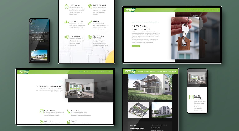 Webseite für Noeltgen Bau GmbH